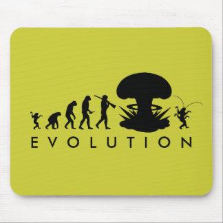 Évolution de diagramme drôle d'évolution de tapis de souris