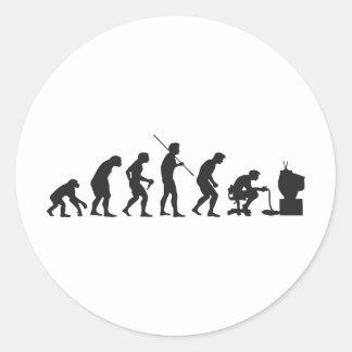 Évolution de Gamer de jeu de jeux vidéo Sticker Rond