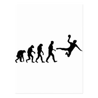 évolution de handball cartes postales
