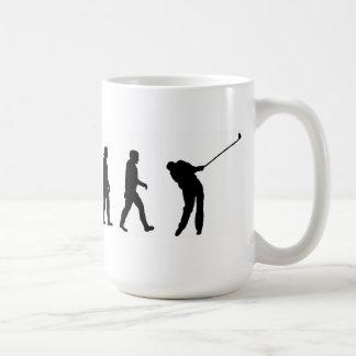 évolution de jouer au golf de golfeur de golf de mug
