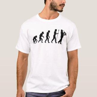 Évolution de joueur de saxophone t-shirt