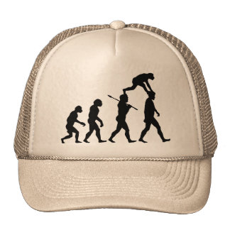 Évolution de l'homme casquette de camionneur