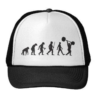 Évolution de l'homme - culturiste casquette de camionneur