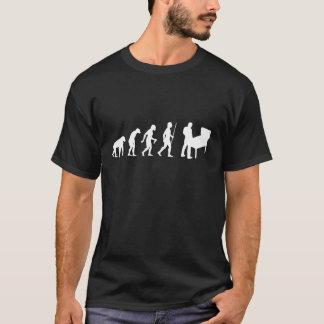 Évolution de l'homme et de flipper t-shirt