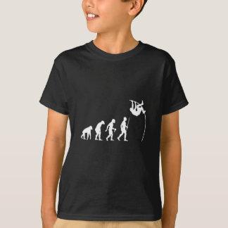 Évolution de l'homme et de saut à la perche t-shirt