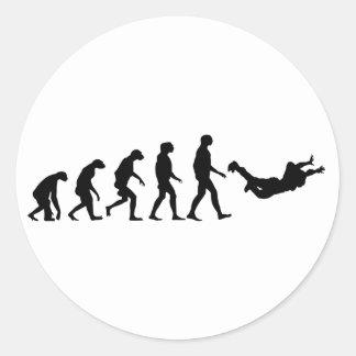 Évolution de parachutisme sticker rond
