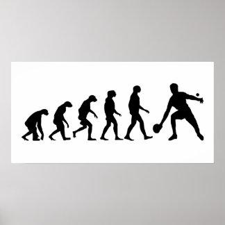 Évolution de ping-pong poster