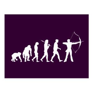 Évolution de tir à l arc d un tir à l arc de tir à carte postale