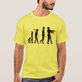 Évolution de zombi t-shirt
