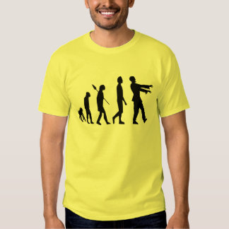 Évolution de zombi t-shirts