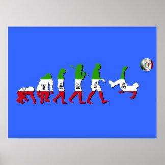Évolution des cadeaux italiens de l Italie Calcio Posters