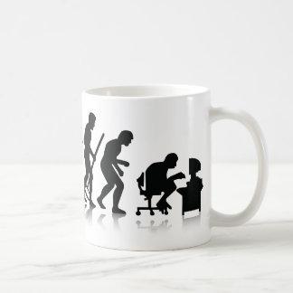 Évolution des mordus de l'informatique mug à café