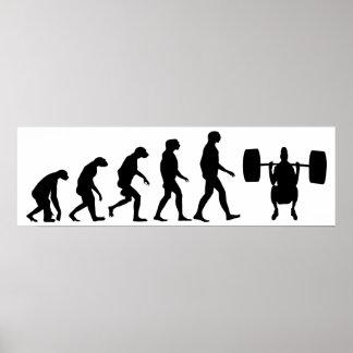 Évolution d'haltérophilie poster