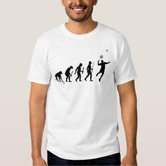 Évolution drôle de badminton t-shirt