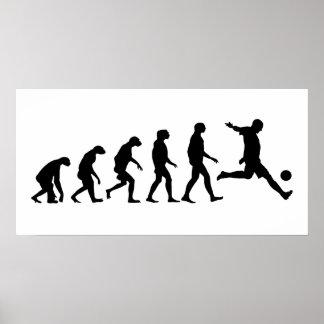 Évolution du football affiches