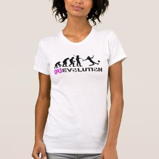 Évolution du football de femmes/dessus diagramme t-shirts
