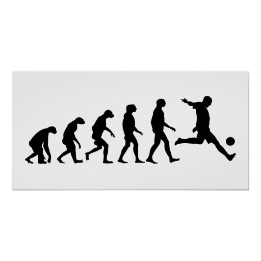 Évolution du football posters