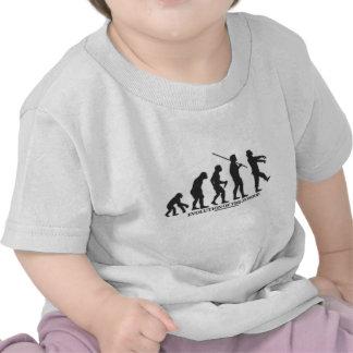 Évolution du zombi t-shirts