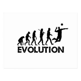 Évolution d'un joueur de volleyball carte postale