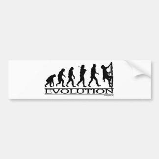 Évolution - escalade autocollant pour voiture