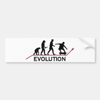 Évolution faisante de la planche à roulettes autocollant de voiture
