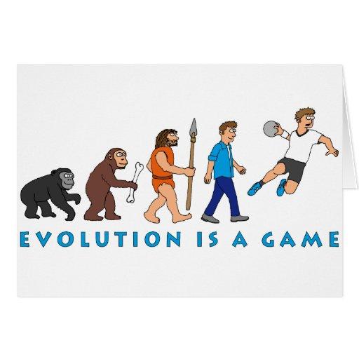 Évolution handball bande dessinée de style carte de vœux