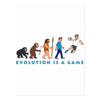 Évolution handball bande dessinée de style cartes postales