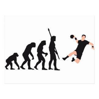 évolution handball carte postale