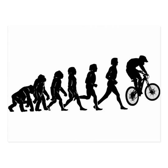 Évolution inclinée carte postale