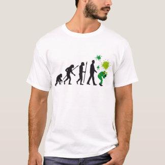 évolution of paintball plus player t-shirt