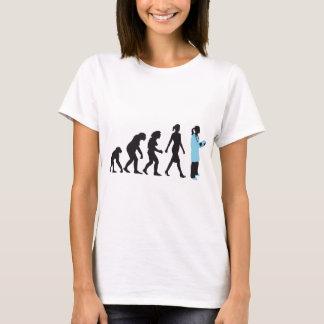 évolution of woman female doctor t-shirt