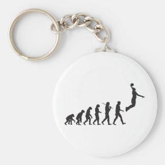 Évolution - saut de basket-ball porte-clés