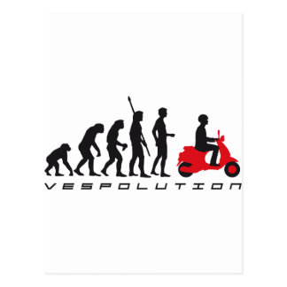 évolution scooter carte postale