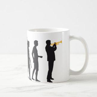évolution trumpet plus player mug blanc