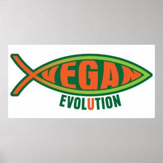 Évolution végétalienne posters