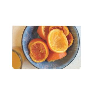 Ex-Compression je ? Carnet frais de jus d'orange