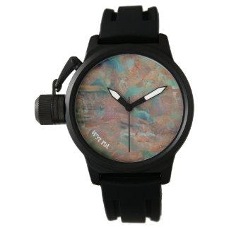 Exagération urbaine de cuivre brûlée montres bracelet
