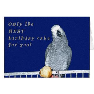 Examinez le gâteau carte de vœux