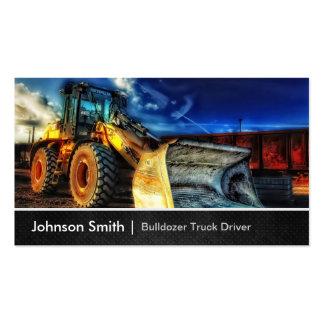 Excavatrice de bouteur - chauffeur de camion de carte de visite standard