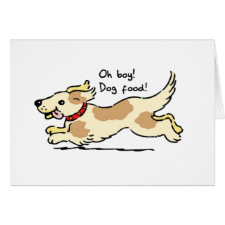 Excité pour l illustration de chien de nourriture carte de vœux