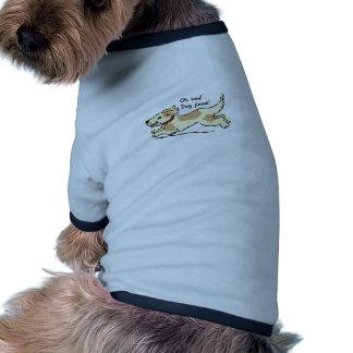 Excité pour l illustration de chien de nourriture tee-shirt pour animal domestique