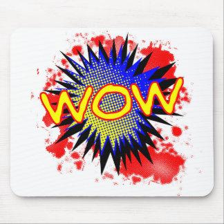 Exclamation comique de wow tapis de souris