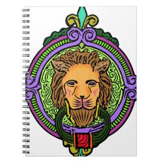 Exclusivité d'art de lion carnet