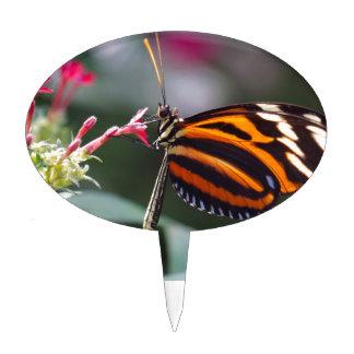 exotic butterfly étiquette à gâteau