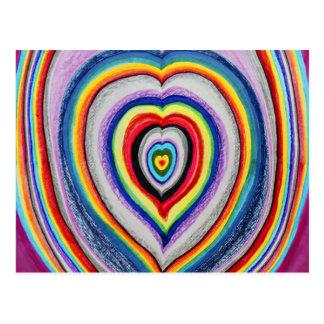 Expansion de coeurs d'amour cartes postales