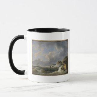 Expédition outre d'un littoral en mer agitée mug