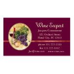 Expert en matière de vin modèle de carte de visite