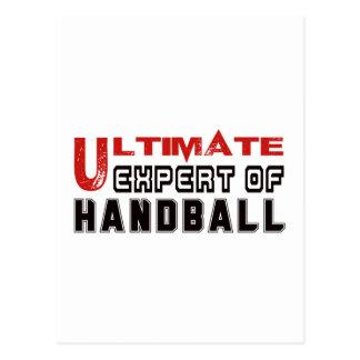 Expert final de handball carte postale