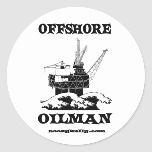 Expert pétrolier en mer, autocollant de gisement