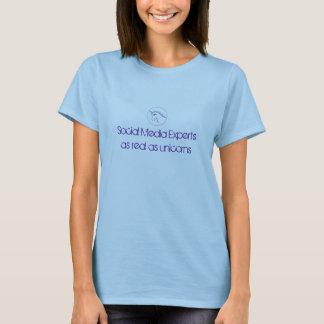 Experts en matière sociaux de médias aussi vrais t-shirt